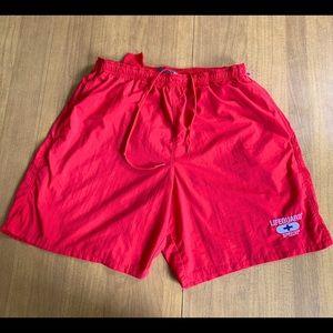 Vintage Red Speedo Lifeguard Swimsuit
